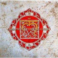 Chakra Muladhara - Chakra Raiz / Serie Sanscrito- Tecnica mixta y oleo.  45 x 45 -  cm19O€ Muladhara Chakra, Yoga Art, Epiphany, Chakras, Namaste, Reiki, Tat, Foot Prints, Mandalas