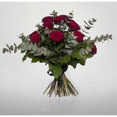 Beauty in a bouquet - a dozen red roses