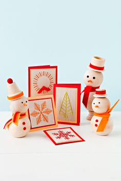 Greeting Cards and Snowmen #Christmas #Crafts