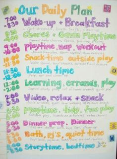 Sample Schedule For  Year Old  Detailed  Organized Schedules