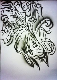 #art #arte #kunst #illustratie #illustration #graff #graffiti #graffitiart #sprayart #streetart #rook #smoke #fumo #sigarette #psychedelic #acid #abstract #blackwhite #zwartwit