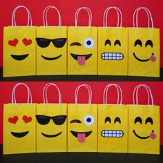 Instant Download Emoji Favor Bags DIY by CreativePartyStudio
