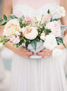 Blush Pink Spring Garden Wedding Inspiration | Wedding Sparrow | Kayla Barker Photography
