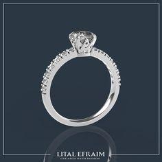 #18k #customade #engagement #wedding #engagementring #diamond #ido #cushioncut #jewelry #whitegold #ring