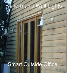 Fisherman's Wall Lights used to enhance the entrance to an outside office.