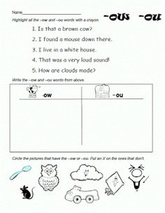 Review Sheet (er, ur or ir) | Abeka Letters and Sounds Helpers ...