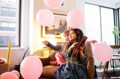 If you fill a room with a bunch of balloons, kids of all ages will be entertained for hours.