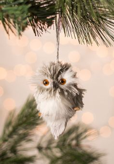 And Owl Through the House Ornament, #ModCloth