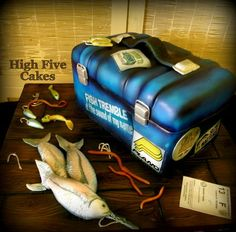Gone Fishing  Cake by flipnsarah for those who want to decorate cakes!  Cute