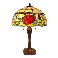 Amora Lighting Tiffany Style AM069TL16 Floral Table Lamp 24""