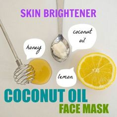 Three Coconut Oil Face Mask Recipes for Healthy Skin Instantly brighten dull skin with this coconut oil face mask with lemon & honey!Instantly brighten dull skin with this coconut oil face mask with lemon & honey! Coconut Oil For Face, Coconut Oil Uses, Honey Lemon Face Mask, Beauty Hacks For Teens, Natural Sunscreen, Homemade Face Masks, Dull Skin, Tips Belleza, Beauty Recipe