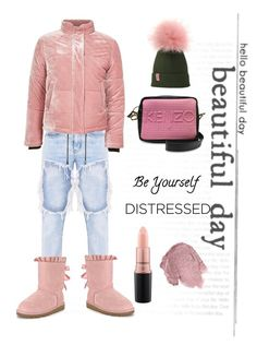 """Denim distressed"" by elarmariodelcamaleon ❤ liked on Polyvore featuring Topshop, UGG, MAC Cosmetics, Anna Sui and Kenzo"