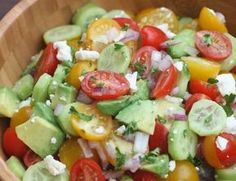 Tomato Cucumber Avocado Salad is the perfect EASY, light and fresh summer side dish. Tastes Better From Scratch Summer Side Dishes, Side Dishes Easy, Side Dish Recipes, Hawaiian Side Dishes, Barbecue Side Dishes, Dishes Recipes, Avocado Recipes, Salad Recipes, Healthy Recipes