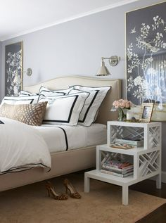 Easy bedroom styles and designs: Looking for bedroom design ideas? Browse bedroom redecorating ideas and layouts. Click the link for Home Bedroom, Bedroom Furniture, Bedroom Decor, Master Bedroom, Bedroom Styles, Beautiful Bedrooms, Interiores Design, Guest Room, Decoration
