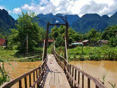 Taking kids to Vang Vieng, Laos ...