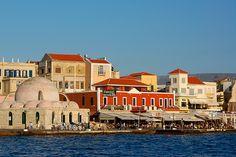 Waterfront along the Venetian Harbor of #Chania #Crete #Greece #travel #ttot #travelling2GR #visitGReece   PHOTO via: B. Scheneman http://www.flickr.com/photos/peacecorrespondent/2481331368/