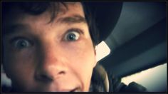 "Benedict Cumberbatch <3. <== I swear this is his ""I found a thing!"" face..."