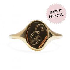 Small Heirloom Signet Ring - New Jewelry - Catbird Pinky Finger Ring, Personalized Jewelry, Handmade Jewelry, Mirror Jewelry Armoire, Mommy Jewelry, Body Jewellery, Jewelry Rings, Jewelry Box, Black Gold Jewelry