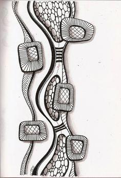 Zentangle Drawings, Doodles Zentangles, Zentangle Patterns, Doodle Drawings, Doodle Art, Zen Doodle, Painting & Drawing, Tangle Art, Zen Art