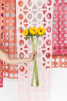 Modern Papercut Backdrop DIY | Oh Happy Day! | Bloglovin'