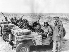 inch Photo Puzzle with 252 pieces. (other products available) - Colonel David Stirling with a patrol of Special Air Service (SAS) men in the Middle East. Date: 1944 - Image supplied by Mary Evans Prints Online - Jigsaw Puzzle made in the USA David Stirling, Afrika Corps, North African Campaign, Special Air Service, Colonel, Warrant Officer, Chevrolet Trucks, British Army, Special Forces