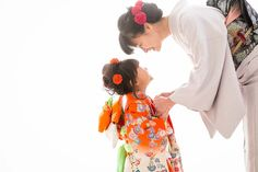 Shichigosan/ boy 5 years old/ girl 3 and 7 years old( November 15) Japan/ festival 七五三