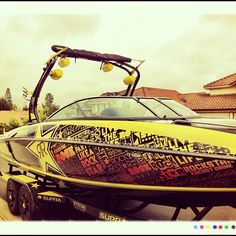 Rockstar Supra Boat ! NICE ... I miss our boat ... Next on the goal board for next year !!