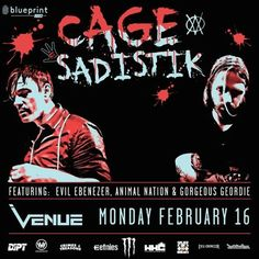 @etnies is stoked to be sponsoring Cage and Sadistik live at Venue, Monday Feb 16th. Don't sleep on this one! @sadistikmusic @cagewm @venuelive #EtniesCanada