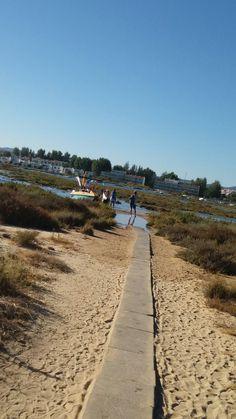 Maravilhosa travessia para a praia