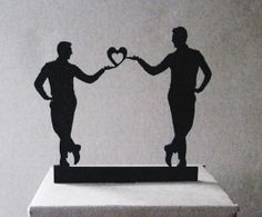 Wedding Cake Topper  same sex wedding gay wedding by Plasticsmith, $26.00