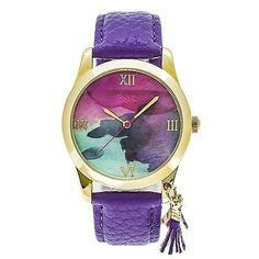 Other Wholesale Wristwatches 40133: Boum Aquarelle Watercolor Dial Leather-Band Watch, Purple, Standard, Boubm3901 -> BUY IT NOW ONLY: $89 on eBay!