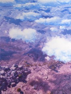 "Clouds by Warwick Fuller  oil on board 47"" x 35"" www.panterandhall.com"