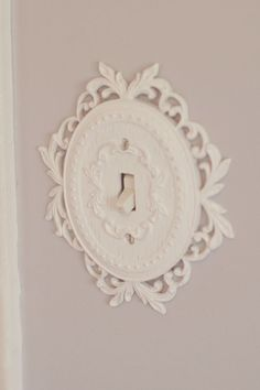 Light switch cover - would adorable in a little girl's room!