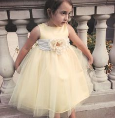 Yellow Flower Girl Dress by OliviaKateCouture on Etsy, $124.99