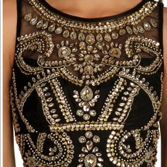 Prom dress never been used ! Long dress 2 piece with gold on top Dresses Prom