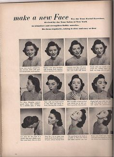 My mom used to do these facial exercises daily. At 93, she's the most beautiful woman I know!