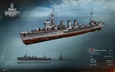 #cruiser #kitakami #navy Крейсер типа «Китаками». Техрендер из игры World of Warships/ Kitakami-class cruiser. Technical render from the World of Warships alpha   http://wiki.wargaming.net/ru/Navy:Крейсер