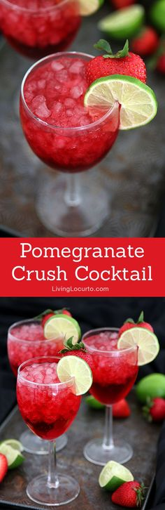 A tasty pomegranate cocktail drink for your next party! You'll crush on this delightful mixture of pomegranate soda, coconut rum, ginger ale and peach schnapps. Cocktails For Parties, Summer Drinks, Cocktail Drinks, Fun Drinks, Cocktail Recipes, Alcoholic Beverages, Liquor Drinks, Cocktail Ideas, Refreshing Drinks