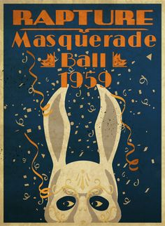 BioShock Rapture Masquerade Ball 1959 limited edition lithograph via the Irrational Games Store. Bioshock Rapture, Bioshock Game, Bioshock Series, Bioshock Infinite, Minimal Poster, Video Game Art, Video Games, Masquerade Ball, Disney