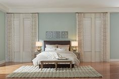 Layered Window Treatments for the Bedroom