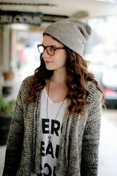 Cute Casual Cardigan With Beanie