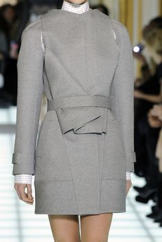 Structured Fashion - tailored jacket with cutout panels and sharp line & fold detail  // Balenciaga