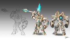 Working on a little fun project; I wanted to make a Skin for Reinhardt for the Overwatch Series in Heroes of the Storm! I thought he would look really cool with a Protoss like machinery Overwatch Skin Concepts, Steampunk Characters, Larp Armor, Heroes Of The Storm, Overwatch Fan Art, Stars Craft, Fantasy Armor, Shadowrun, Creature Design