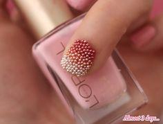 DIY Caviar Ombre Nails