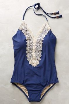 Anthropologie Lace-Front Maillot                                                                                                                                                                                 More