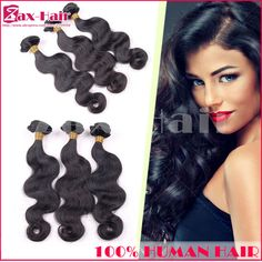 "Queen Hair sale store 3pcs Lot peruvian virgin hair body wave factory 7A Unprocessed Hair Weave 1B Natural Black Color 8""-26"""