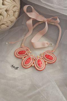 Soutache necklace. Soutache jewelry by AMdesignSoutache on Etsy