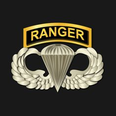 Awesome 'Airborne+Badge+-+Ranger+Tab' design on TeePublic!