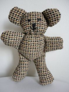 Scented Tweed Teddy (Black Stitching)