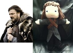 I love my Ned Stark dolly!    By Jessica Stark; saw her at Club Jaeger's Craft Fair 12/8/12